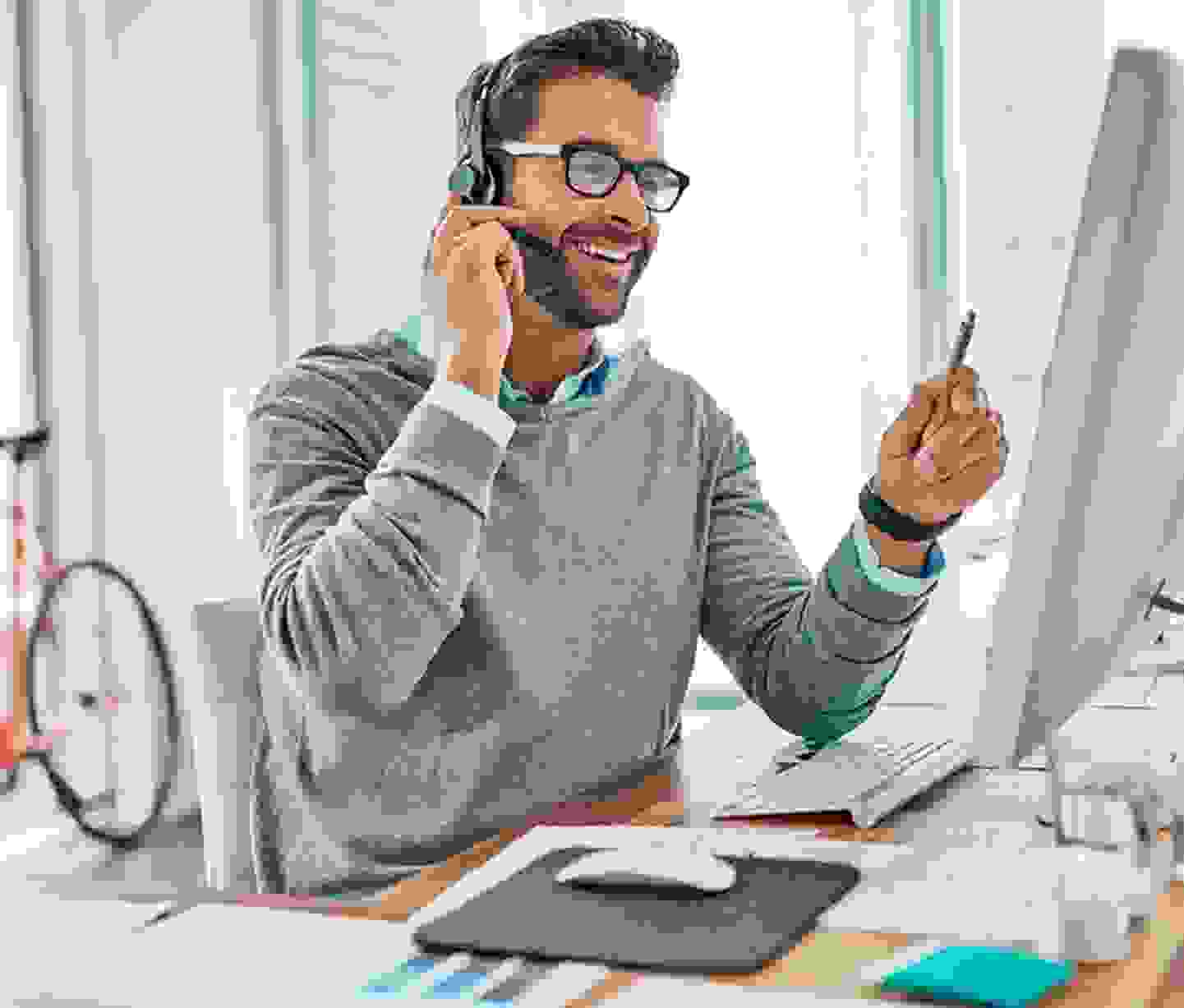 Büromaterial zur Unterstützung der Ergonomie am Arbeitsplatz
