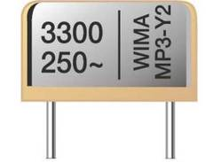Interference suppression capacitor from the manufacturer Wima with a capacity of 3300 pF and nominal voltage of max. 250 V.