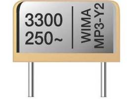Entstörkondensator des Herstellers Wima mit einer Kapazität von 3300 pF und Nennspannung von max. 250 V