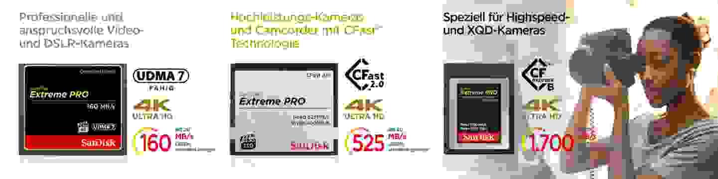 Sandisk CF-Speicherkarten