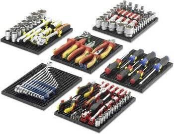 Lochplatten sind auch für den Einsatz in Werkzeugschüben geeignet.