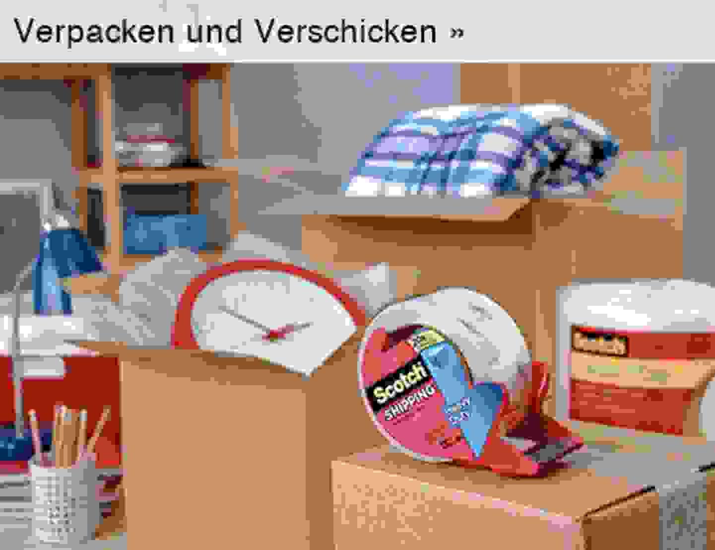 Verpacken und Verschicken