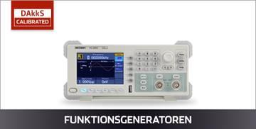 VOLTCRAFT Funktionsgeneratoren DAkkS kalibriert