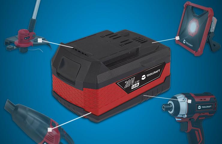 Ein Akku für alle Toolcraft-Werkzeuge »