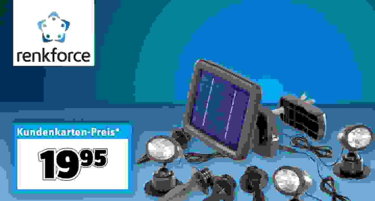 Renkforce Solar-Spot Trio SP303K LED Tageslicht-Weiß Schwarz