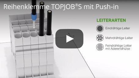 Reihenklemme TOPJOB®S mit Push-in - Für alle Leiterarten und mit hohen Sicherheitsreserven