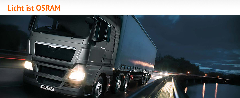 Osram Lampen für Busse und Lkw