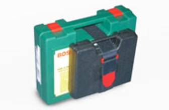 Werkzeugkoffer mit Klettband fixiert