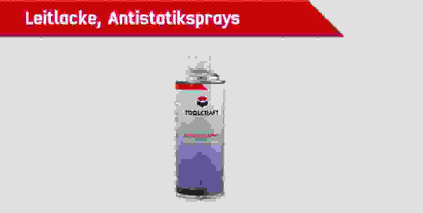 TOOLCRAFT Leitlacke, Antistatiksprays