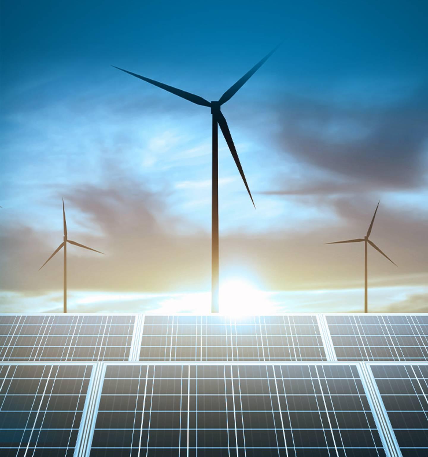 Strom durch erneuerbare Energien