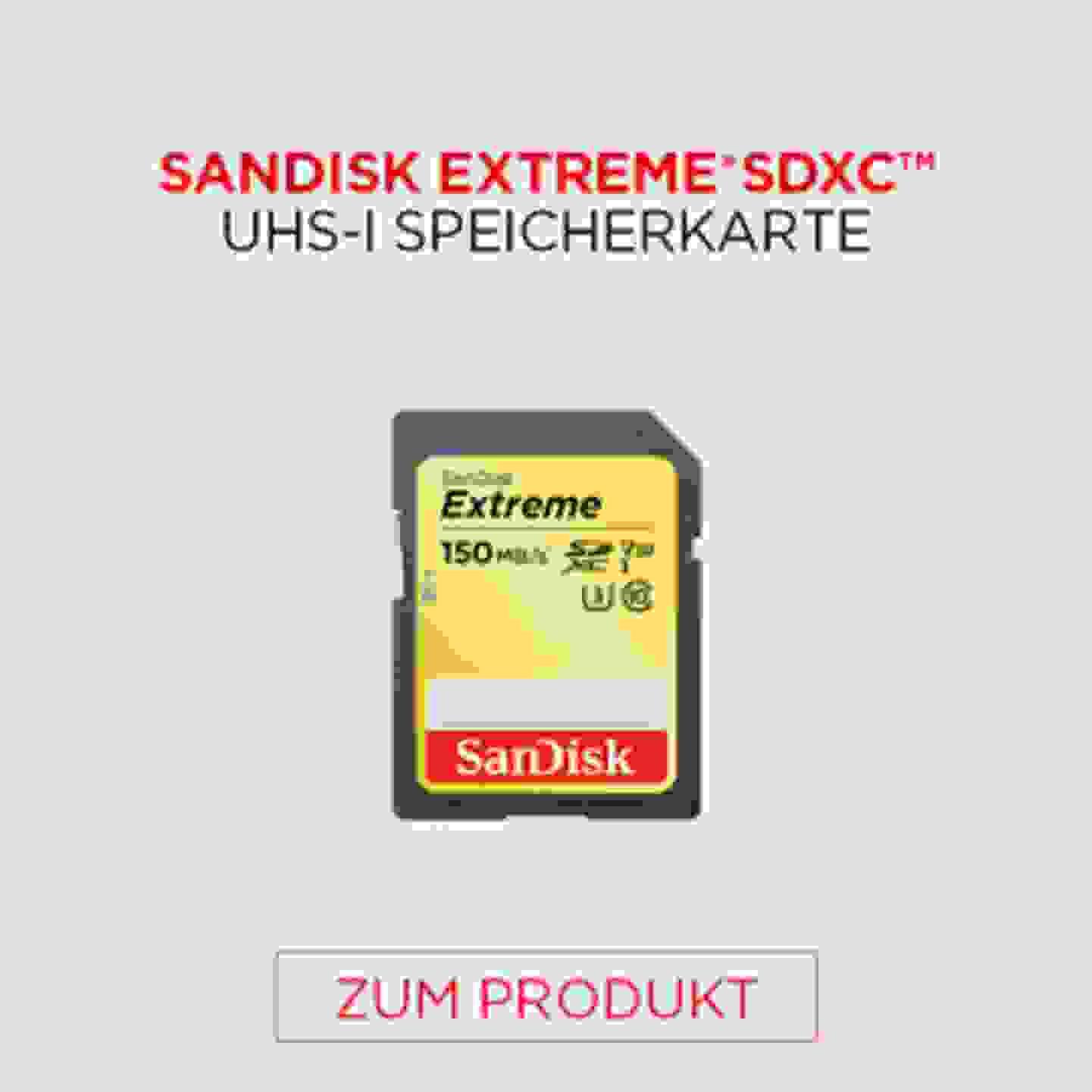 Sandisk Extreme SDXC UHS-I Speicherkarte