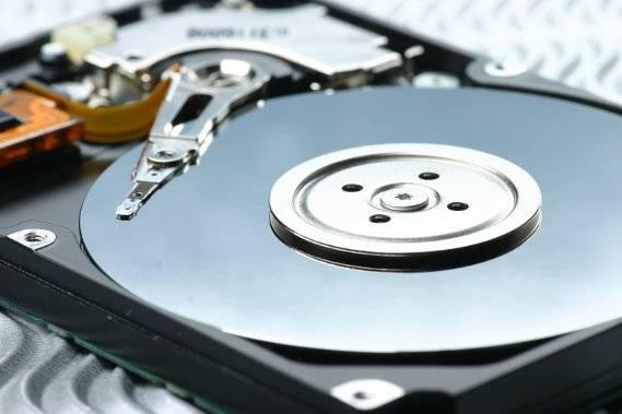 HDD-Festplatte mit Magnetscheiben