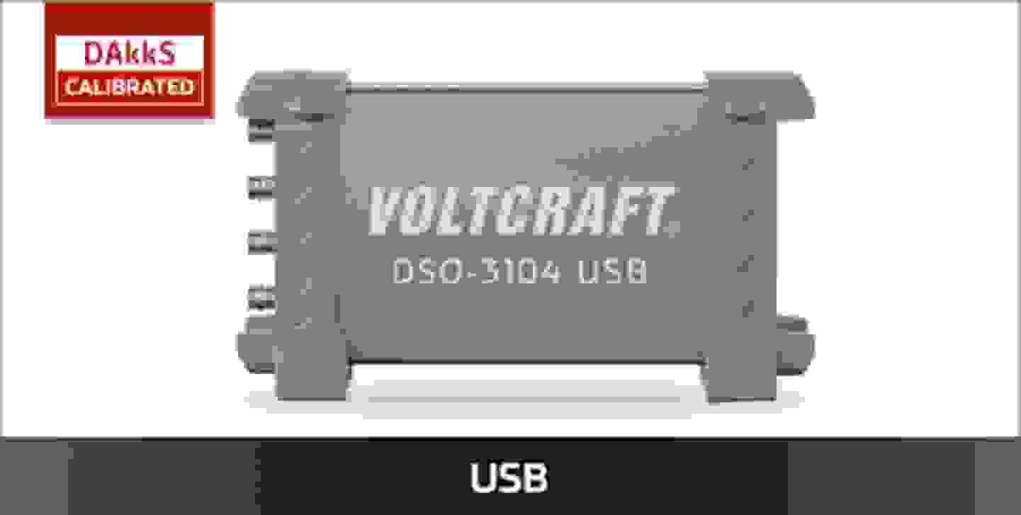 VOLTCRAFT USB Oszilloskope DAkkS kalibriert