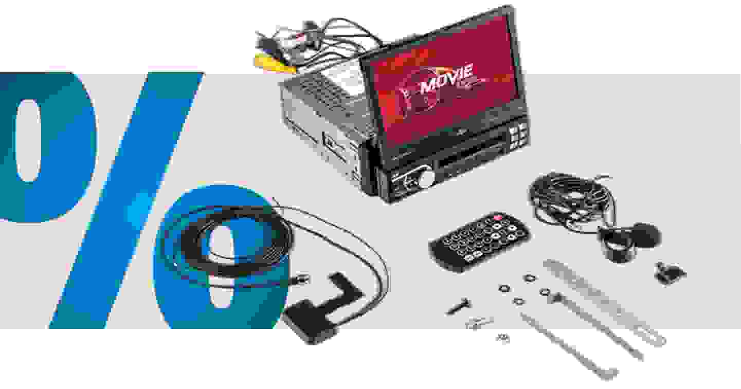 Caliber Audio Technology RMD579DAB-BT Moniceiver DAB+ Tuner, Anschluss für Lenkradfernbedienung, Anschluss für Rückfahrk