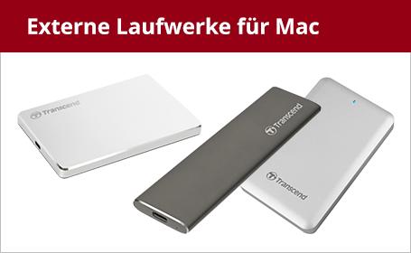 Externe Laufwerke für Mac