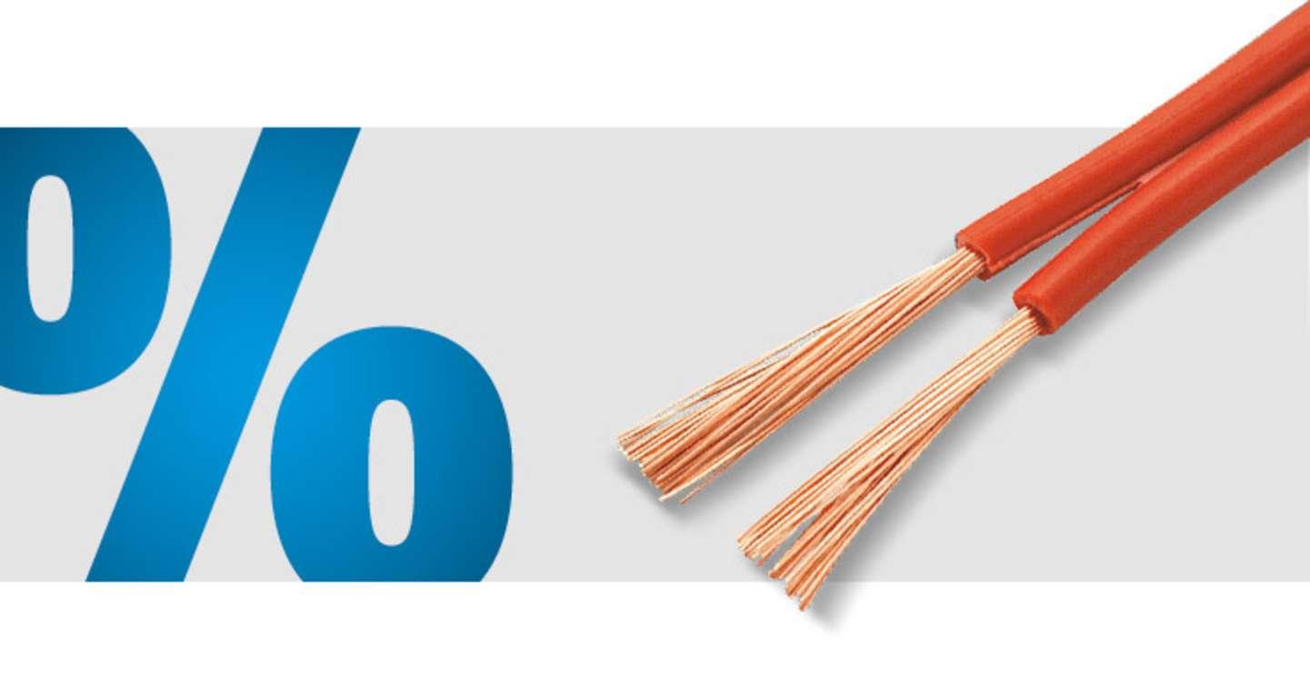 TRU Components - CCA Zwillingslitze LiY-Z 20 m (2 x 1 mm²)