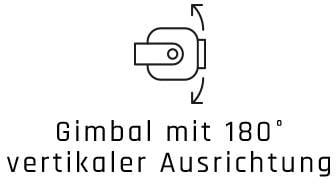 Gimbal mit 180 Grad vertikaler Ausrichtung