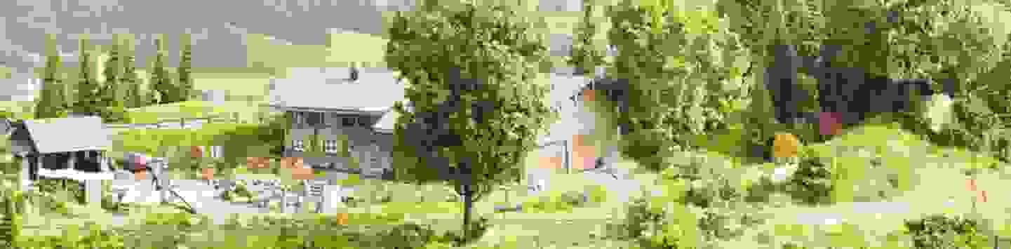 Modellbahn-Gelände