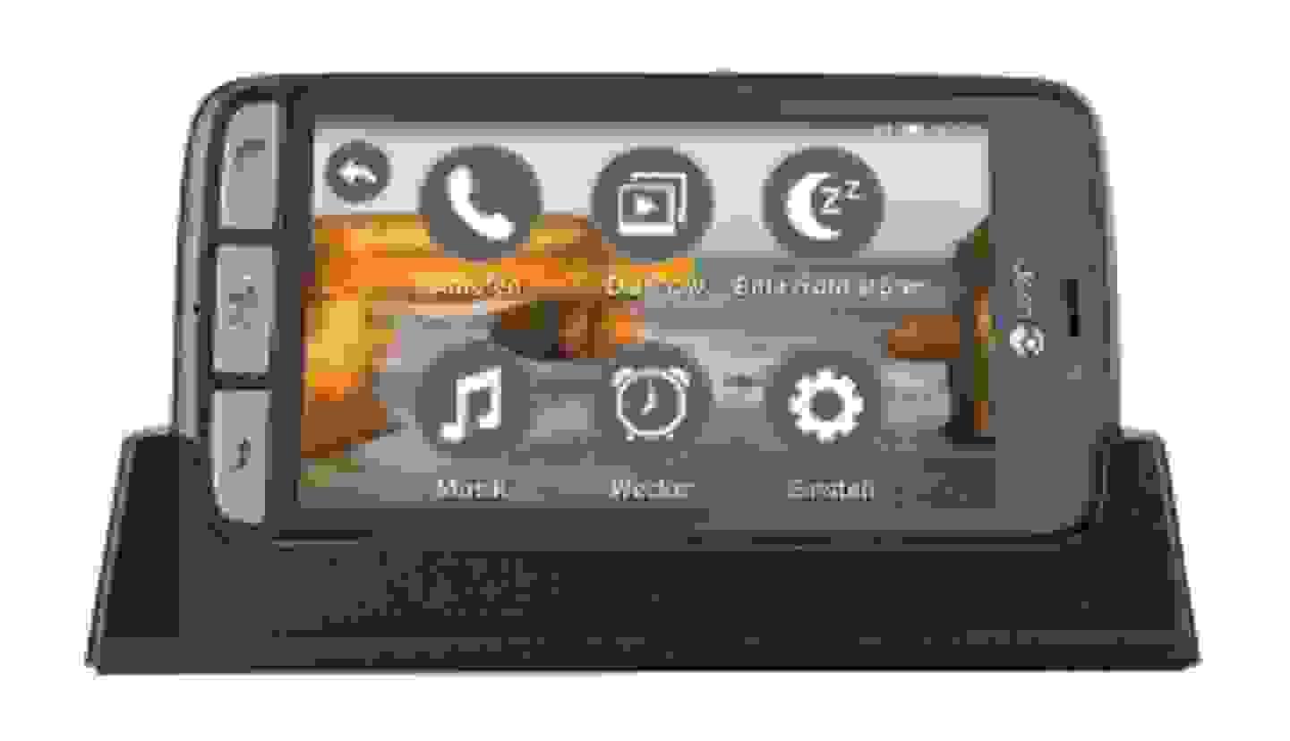 Seniorensmartphone mit großen Symbolen
