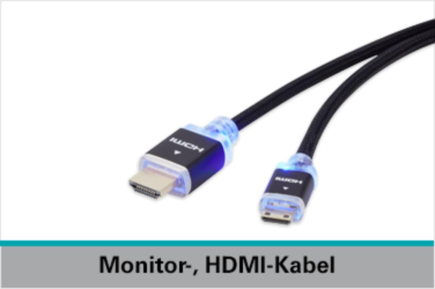 Speaka Professional Monitor-, HDMI-Kabel