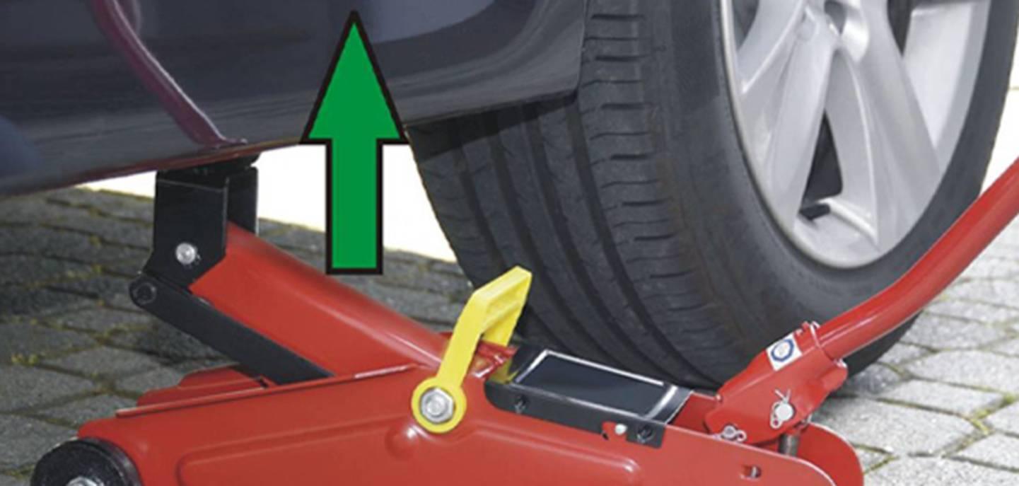 Fahrzeug anheben - Wagenheber ansehen »