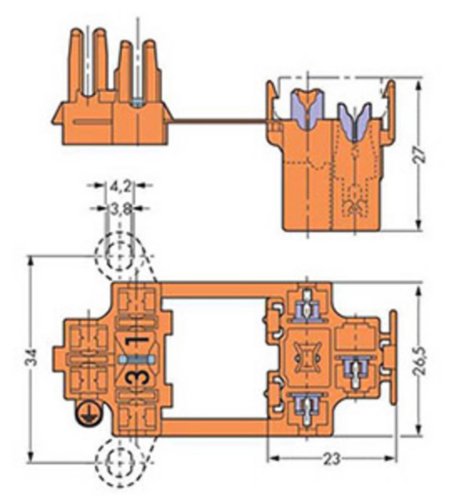 Aufbauzeichnung einer Verbindungsklemme