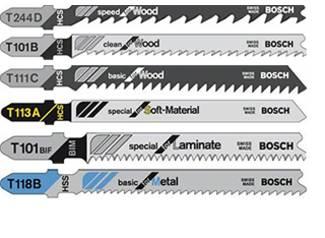 Beispiele für die verschiedenen Arten von Sägeblätter