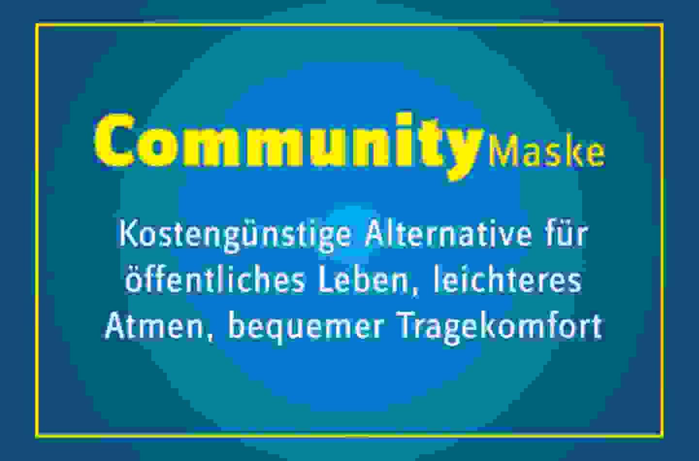 Community Masken Hinweis