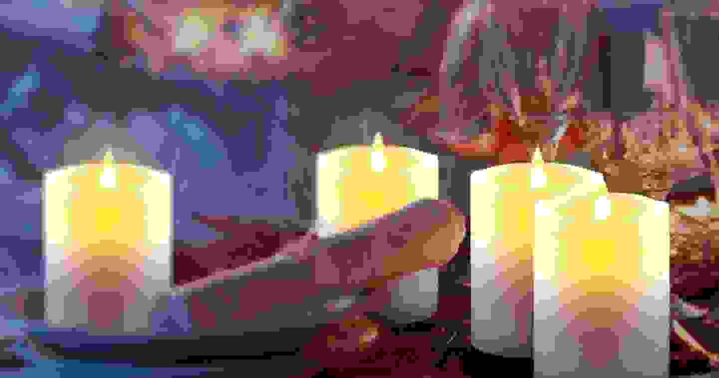 Polarlite - LED-Echtwachskerze »