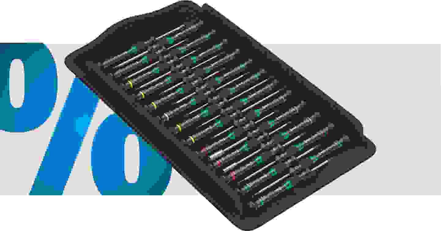 Wera Micro Big Pack 1 Elektronik- u. Feinmechanik Schraubendreher-Set 25teilig
