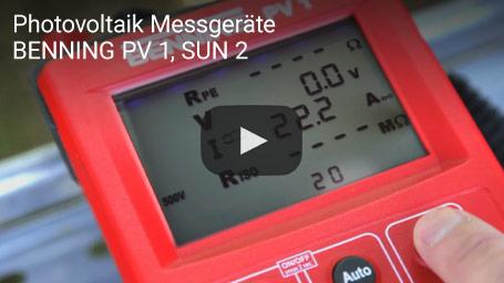 Photovoltaik Messgeräte BENNING PV 1, SUN 2