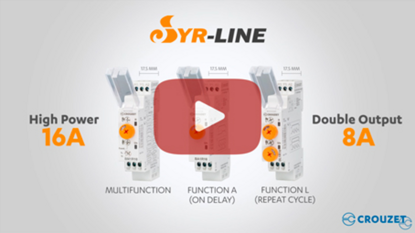 Crouzet Syr-line Timer relay