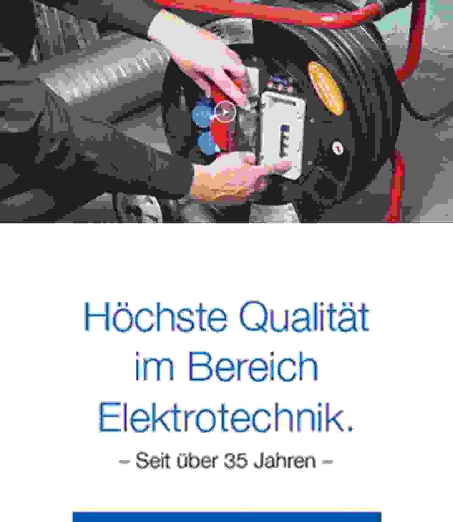 Höchste Qualität im Bereich Elektrotechnik
