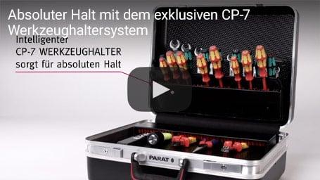 Absoluter Halt mit dem exklusiven CP-7 Werkzeughaltersystem | PARAT Koffer