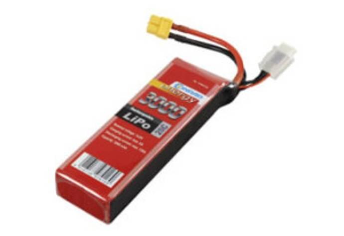 LiPo-batteri med starkström- och Balancer-anslutning