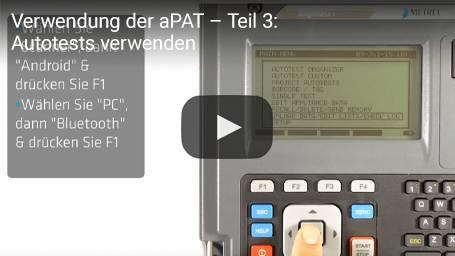 Verwendung der aPAT – Teil 3: Autotests verwenden