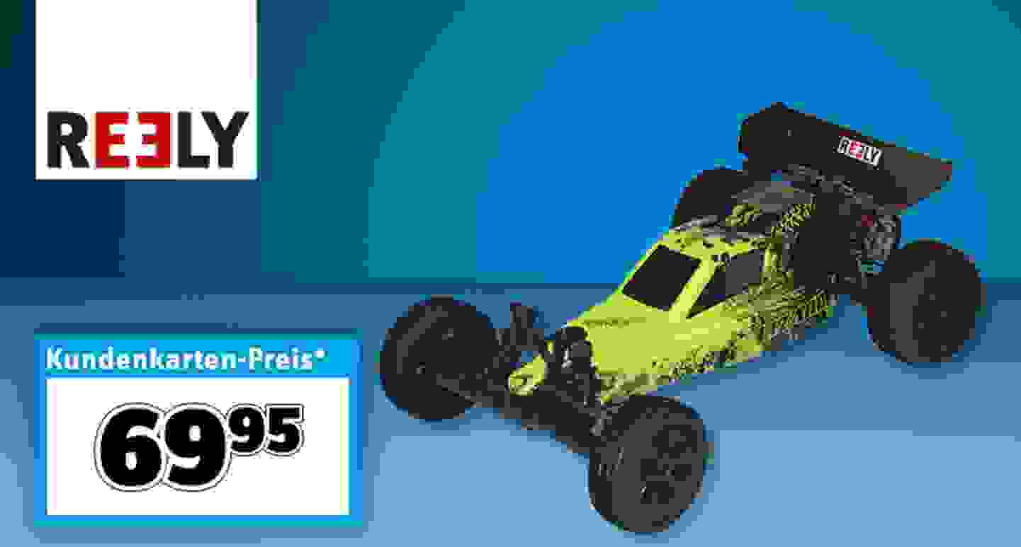 Reely LIZARD Brushed 1:10 RC Modellauto Elektro Buggy 100% RtR 2,4 GHz inkl. Akku und Ladekabel