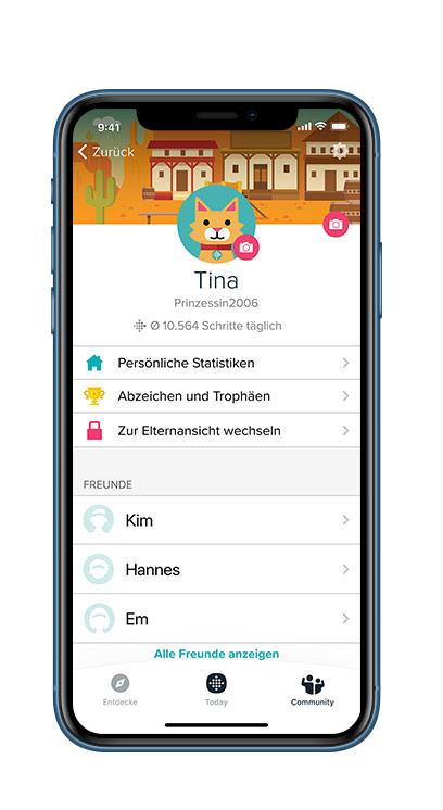 fitbit Familienkonto App