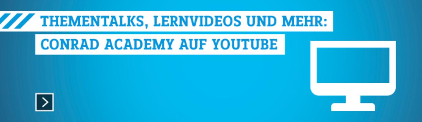 Conrad Academy auf YouTube