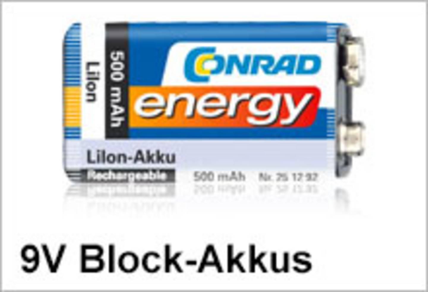 Conrad Energy 9V Block-Akkus