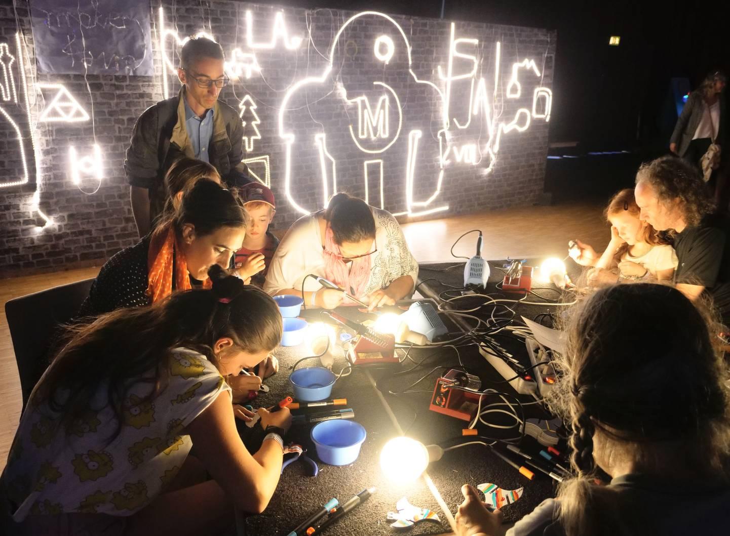Maker Faire Hannover - Leuchtwand