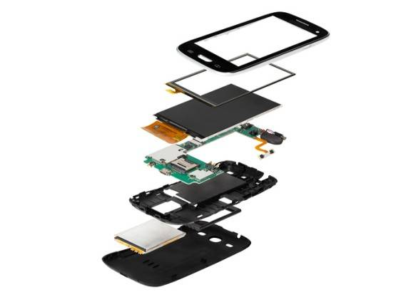 Aufbauskizze eines Smartphones