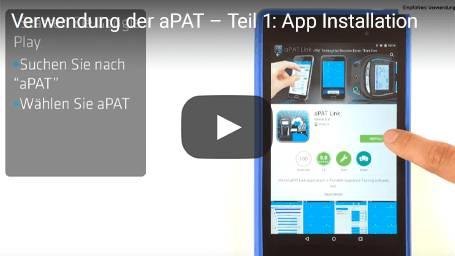 Verwendung der aPAT – Teil 1: App Installation
