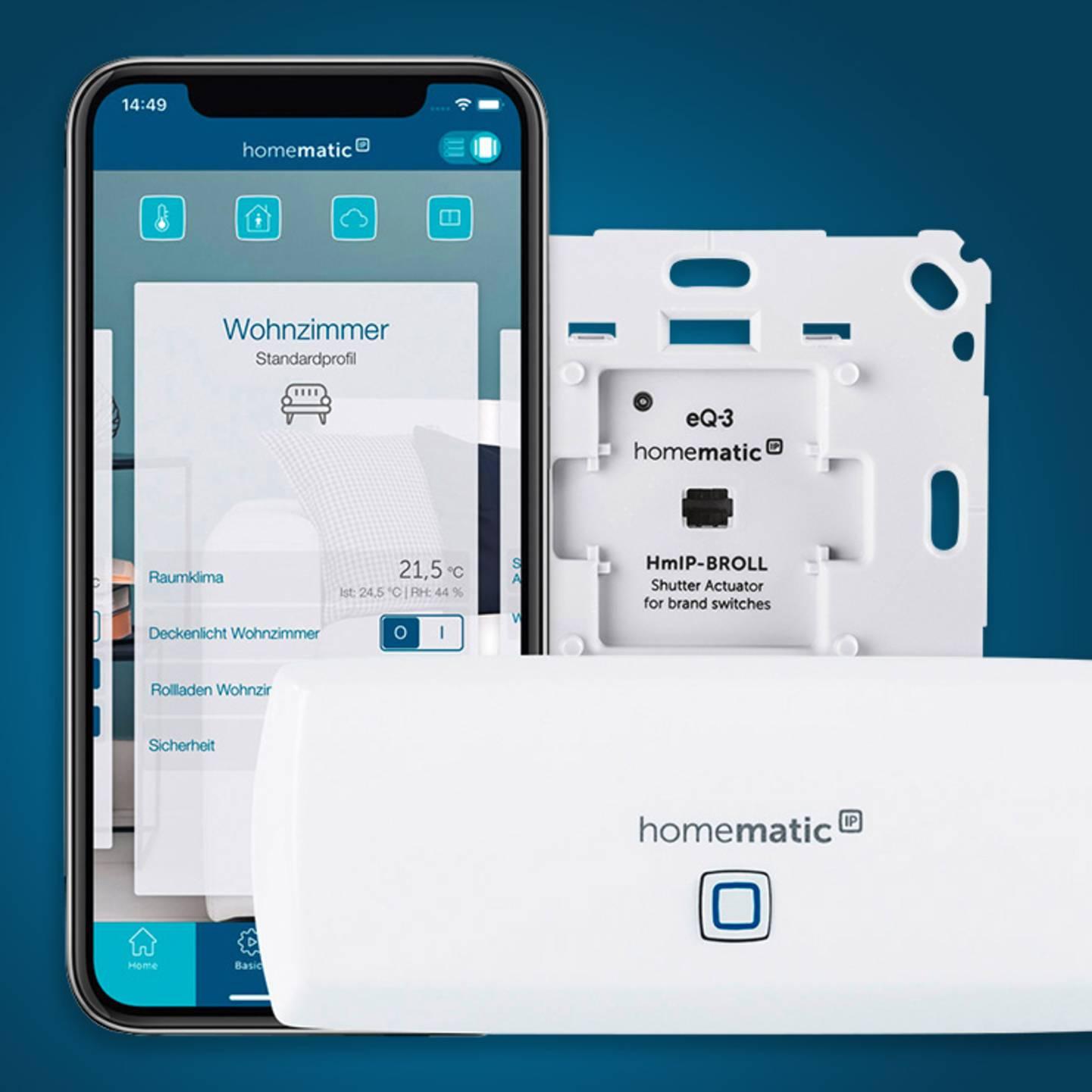 Zum Homematic IP -  Starterkit Rollladen-Steuerung »