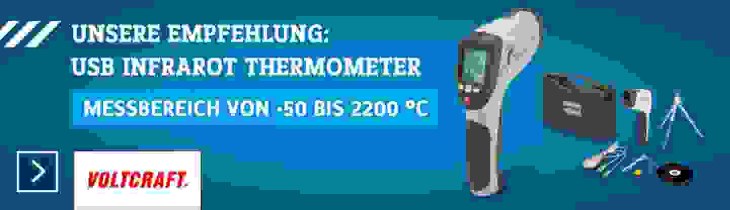 VOLTCRAFT IR 2201-50D USB Infrarot-Thermometer