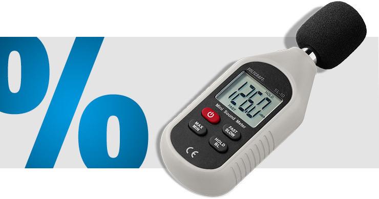 Voltcraft - Schallpegel-Messgerät 30 - 130 dB 31.5 Hz - 8 kHz