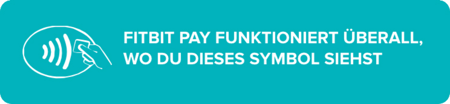 Fitbit Pay funktioniert überall, wo du dieses Symbol siehst