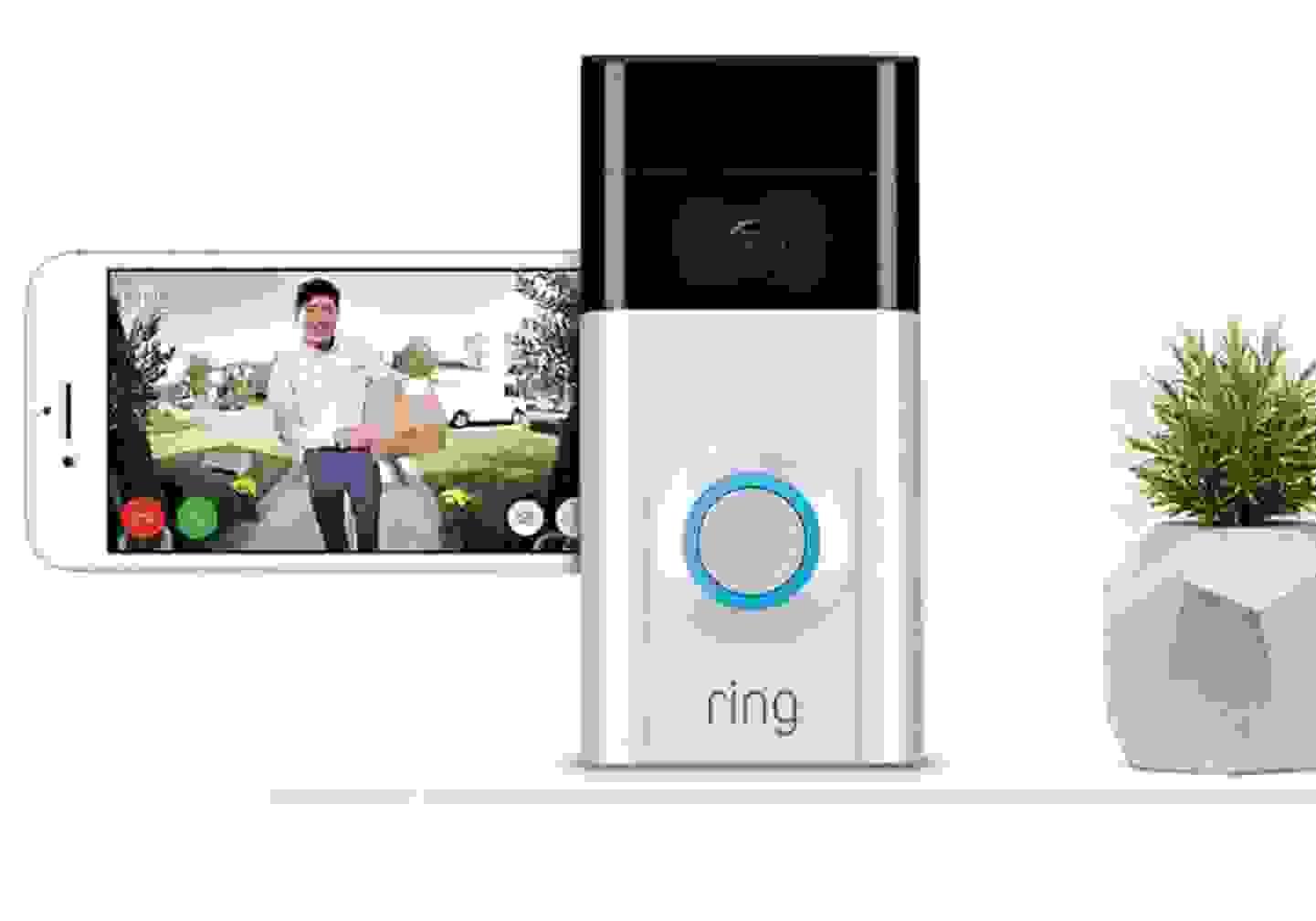 ring - IP-Video-Türsprechanlage WLAN Außeneinheit Satin-Nickel