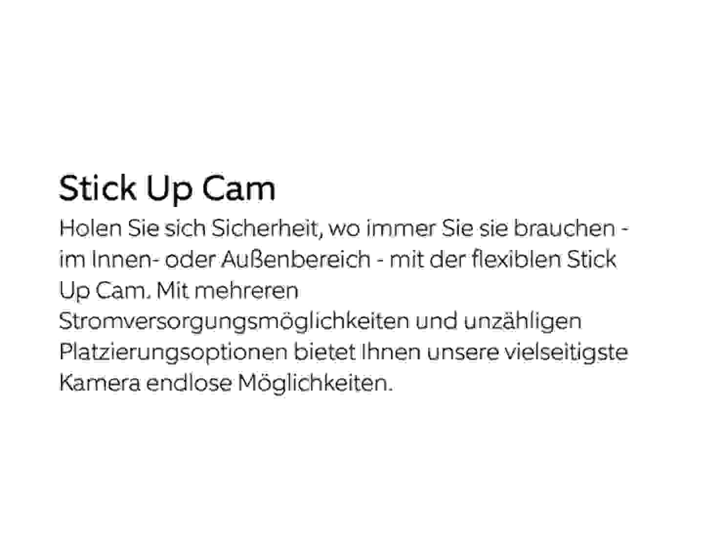 Stick Up Cam