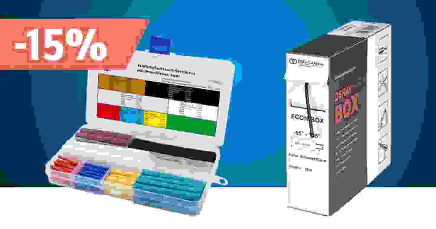 Schrumpfschläuche mit Kleber – Sortiment jetzt entdecken und profitieren »